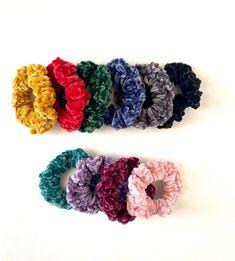 Velvet Hair Scrunchies crochet hair scrunchie velvet hair | Etsy