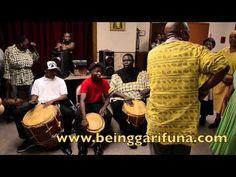 BEING GARIFUNA-- Garifuna Singing, Music and Dancing at The Reception After Garifuna Settlement Day Mass (Part 1)