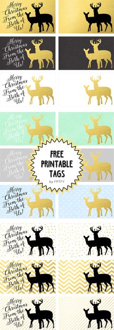 Printable Gift Tags: Merry Christmas From the Both of Us - Free Pretty Things For You