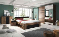 Σετ Υπνοδωματίου Delta II - Σετ Κρεβατοκάμαρας - ΥΠΝΟΔΩΜΑΤΙΟ Oak Bedroom, Bedroom Bed Design, Bedroom Furniture, Furniture Design, Bedroom Decor, Minimalist Furniture, Home Decor Inspiration, Modern Decor, Decor Styles