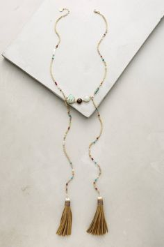 Edine Tassel Necklace - anthropologie.com