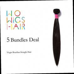 274.91$  Watch now - http://ali2fe.worldwells.pw/go.php?t=32732576077 - Premium WoWigs Hair Brazilian Virgin Hair Straight 5 Bundles Deal Natural Color 1B 274.91$