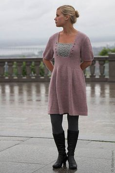 I barely have the patience to knit a sweater, but someday, I'd love to make a tunic or dress.