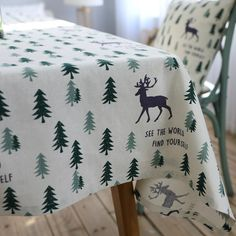 Trova più Tovaglie Informazioni su Biancheria di cotone Di Natale Tovaglia Pastorale Verde Albero di natale Alce 140x200 cm Manteles Tovaglie Tovaglia Rettangolare Table Cover, Alta Qualità table cover, Cina tablecloth rectangular Fornitori, A buon prezzo rectangular tablecloths da Alady su Aliexpress.com