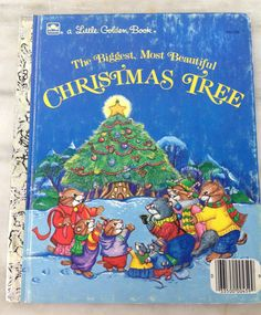 vintage Little Golden Book The Biggest, Most Beautiful Christmas Tree,  hardback LGB, 1985 edition by MotherMuse on Etsy