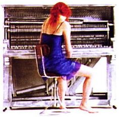 """Tori Amos. Little Earthquake inside cover art. From the opening of the video for """"Silent All These Years"""". 1992"""