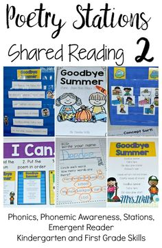 Poems that were made for kindergarten and first grade classrooms. Includes popular monthly themes. Includes interactive pocket chart pieces and emergent reader.