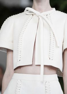 Delpozo S/S 2014/cute touch with the leather look lacing
