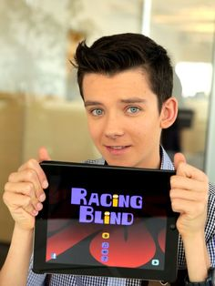 Asa Butterfield -- an app game made by his father and himself