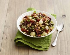 Giada's Brown and Wild Rice Dressing with Mushrooms and Brussels Sprouts from 'Happy Cooking'