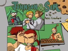 The wonderfully wacky webcomic Johnson & Sir is moving to print in this new book!
