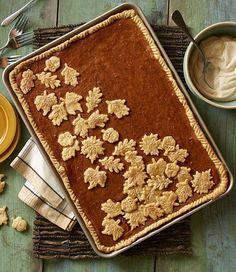 Pumpkin sheet pie?! Awesome! what's your favorite fall treat/pie? Let's hear it! #Fall #pumpkinpie