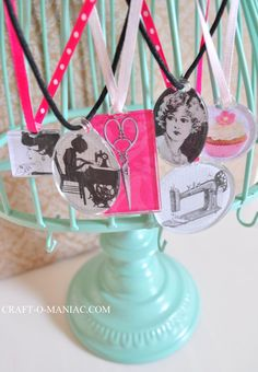 Craft-O-Maniac: 10 Minute ModPodge Necklaces