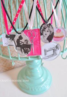 Craft-O-Maniac: 10 Minute ModPodge Necklaces