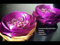Rosa Flor en Tela Satin -Ross Flower -DIY-EASY. - YouTube