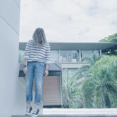 Me with #Zara outfit #converse #jackpurcell