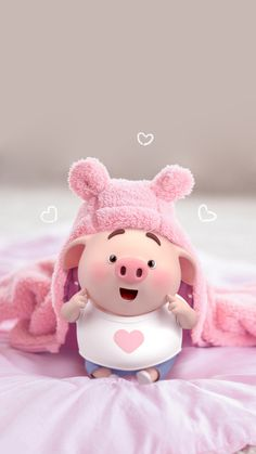 70 Ideas For Anime Art Cute Baby Animals - Best of Wallpapers for Andriod and ios Pig Wallpaper, Disney Wallpaper, Iphone Wallpaper, This Little Piggy, Little Pigs, Pig Illustration, Illustrations, Cute Piglets, Pig Art