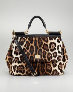 598d8d99259 The Perfect leopard bag, stunning in person! Calf Hair Bag by Dolce    Gabbana.