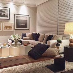 """4,090 Likes, 12 Comments - Arq•Décor•Casa•Home•Interior (@bloghomeidea) on Instagram: """"Ótima sexta! ✨Living aconchegante e belo by Thaís Abreu. Amei❣️ Me encontre também no @pontodecor…"""""""