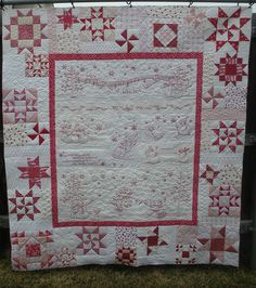 REDWORK WINTER WONDERLAND QUILT - Made by Anita Smith - quilted by DLQ | Flickr - Photo Sharing!