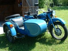Lovely Ural 650 sidecar bike. From Russia, with love.