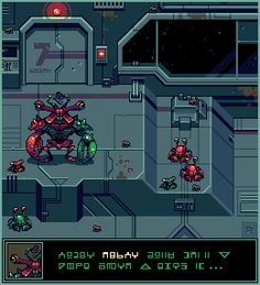 Title:	Space Crabs Pixel Artist:	cure