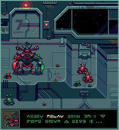 Title:Space Crabs Pixel Artist:cure
