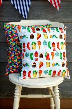 The Very Hungry Caterpillar Pillow on Etsy, $17.30