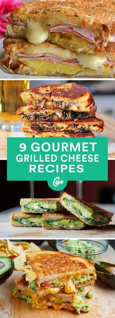 Grilled Sandwich recipes - 9 Gourmet Grilled Cheese Recipes That Are Totally Easy to Make. Grilled Sandwich, Soup And Sandwich, I Love Food, Good Food, Yummy Food, Gourmet Festival, Gourmet Sandwiches, Cheese Sandwich Recipes, Delicious Sandwiches