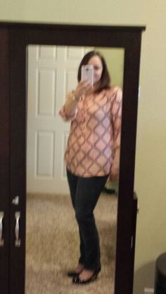 Stitchfix#4....Fun2fun burgdorf diamond pattern printed henley (L)...something I would pick out but way to big it just did nothing for me... returned