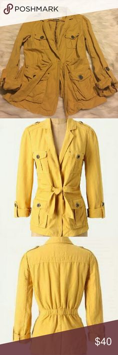 Anthropologie Yellow Nepal Jacket Super cute utility jack in excellent condition. Would look super cute over a spring dress or with a white tee and jeans. Cartonnier brand. Anthropologie Jackets & Coats