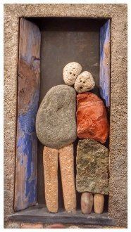 There are Beautiful Pebble Art Ideas. Stone Crafts, Rock Crafts, Arts And Crafts, Diy Crafts, Art Pierre, Rock Sculpture, Deco Nature, Rock And Pebbles, Sea Glass Art