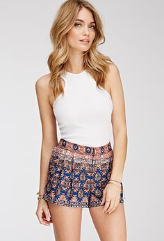 Tribal Print Shorts | FOREVER21 - 2000082427 outfit