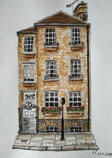 Art Print Charmed Row House Chelsea London Scan From Original Etsy In 2020 Row House House Illustration Chelsea London