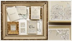 Hand painted wedding invitations : Momental Designs