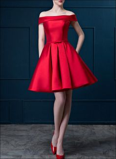 Rotes Cocktailkleid CD110