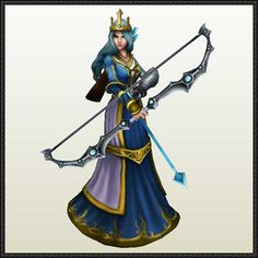 League of Legends - Ashe the Frost Archer Free Papercraft Download - http://www.papercraftsquare.com/league-legends-ashe-frost-archer-free-papercraft-download.html