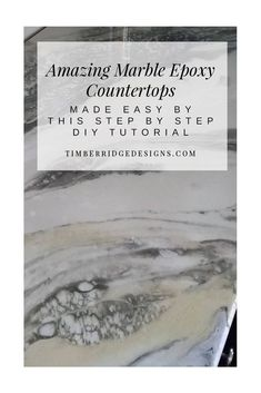 Fast & Easy DIY Epoxy Marble Countertops. All the style, none of the upkeep and a fraction of the cost. Click here to see how