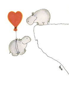 The Sandra Boynton Hippo Card Collection / Valentines Cute Hippo, Baby Hippo, Baby Animals, Cute Animals, Hippo Tattoo, Hippo Drawing, Hippopotamus For Christmas, Sandra Boynton, Valentines