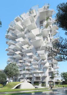 Les 12 folies architecturales du 21eme siècle - Montpellier - L'arbre blanc