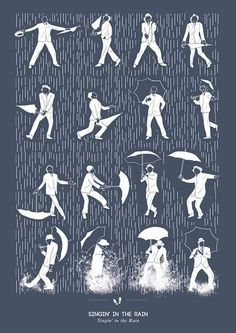 Easy step by step instructional image to show you how to sing and dance in the rain