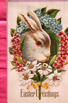 Easter Post Card w/ Cherub Angel and Chicks...