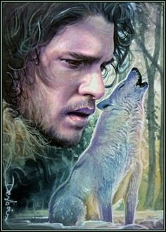 Jon Snow and Ghost