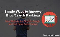 Improve Blog search ranking