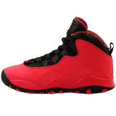 d3598d96d8b0a Amazon.com  Nike Girls Air Jordan 10 Retro GS Fusion Red Black  (487211-605)  Shoes