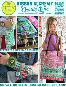 Amy Butler - Ribbon Alchemy Creative Suite 7 Fabulously easy and gift-able ribbon projects Ribbon Projects, Sewing Projects, Renaissance, Sewing Station, Amy Butler Fabric, Creative Suite, Pdf Patterns, Diy For Teens, Fabric Crafts