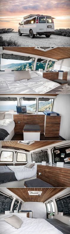 Filmmaker Transforms Cargo Van Into a Modern Living Space and Studio