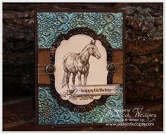 Horse Frontier Stampin' Up! Card
