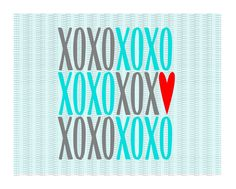 XOXO Svg, Png, Dxf, Eps, Cutting/ Printing Files For Silhouette Cameo/ Cricut and More, Svg Download. by CutItUpYall on Etsy