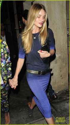Rosie Huntington-Whiteley blue ombre dress